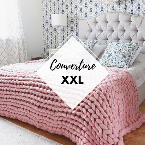 Couverture XXL grosse maille